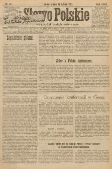 Słowo Polskie. 1922, nr45