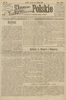 Słowo Polskie. 1922, nr48
