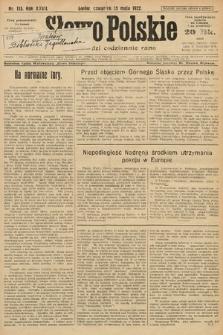 Słowo Polskie. 1922, nr113