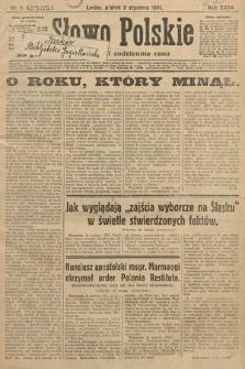 Słowo Polskie. 1931, nr1