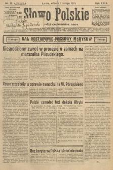 Słowo Polskie. 1931, nr33