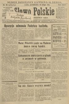 Słowo Polskie. 1931, nr46