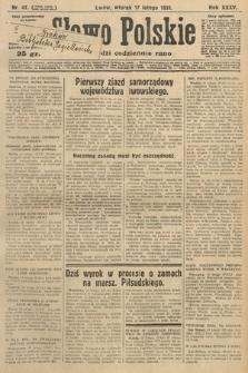 Słowo Polskie. 1931, nr47