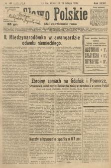 Słowo Polskie. 1931, nr49