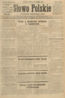 Słowo Polskie. 1931, nr54