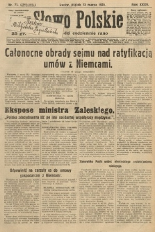 Słowo Polskie. 1931, nr71