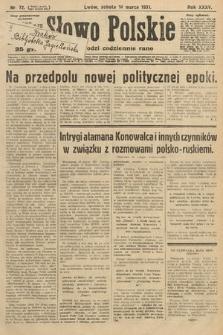 Słowo Polskie. 1931, nr72