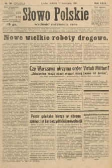 Słowo Polskie. 1931, nr98