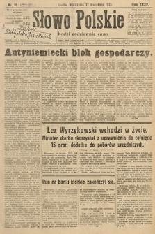 Słowo Polskie. 1931, nr99