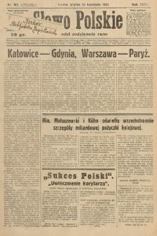 Słowo Polskie. 1931, nr111