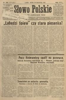 Słowo Polskie. 1931, nr254