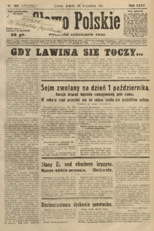 Słowo Polskie. 1931, nr263