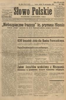 Słowo Polskie. 1931, nr284