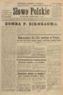 Słowo Polskie. 1931, nr317