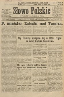 Słowo Polskie. 1931, nr340
