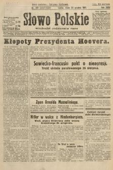 Słowo Polskie. 1931, nr351