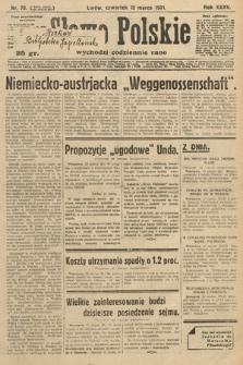 Słowo Polskie. 1931, nr70