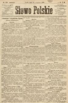 Słowo Polskie (wydanie poranne). 1899, nr224