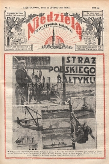 Niedziela : ilustrowany tygodnik katolicki Diecezji Częstochowskiej. 1935, nr8