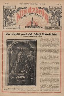 Niedziela : ilustrowany tygodnik katolicki Diecezji Częstochowskiej. 1935, nr20