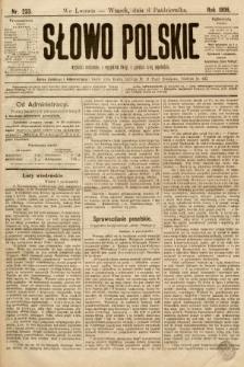 Słowo Polskie. 1896, nr233