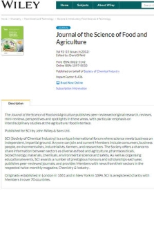 Journal of the Science of Food and Agriculture