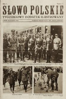 Słowo Polskie : tygodniowy dodatek ilustrowany. 1925, nr1