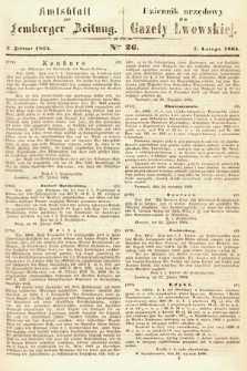 Amtsblatt zur Lemberger Zeitung = Dziennik Urzędowy do Gazety Lwowskiej. 1864, nr26