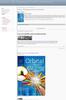 Orbital : the Electronic Journal of Chemistry