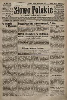 Słowo Polskie. 1925, nr213