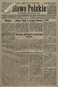 Słowo Polskie. 1925, nr256