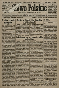 Słowo Polskie. 1925, nr262