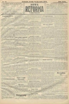 Nowa Reforma (numer poranny). 1910, nr27