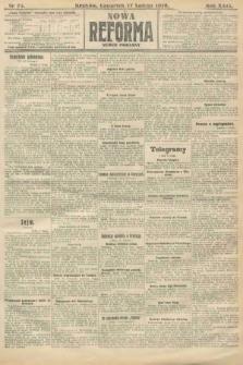 Nowa Reforma (numer poranny). 1910, nr75