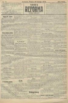 Nowa Reforma (numer poranny). 1910, nr77