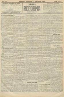 Nowa Reforma (numer poranny). 1910, nr172