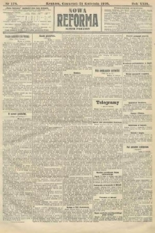 Nowa Reforma (numer poranny). 1910, nr178