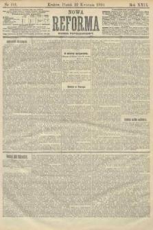 Nowa Reforma (numer popołudniowy). 1910, nr181