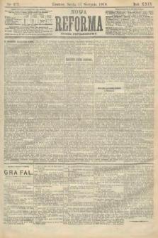 Nowa Reforma (numer popołudniowy). 1910, nr372