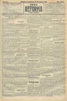 Nowa Reforma (numer poranny). 1910, nr373