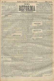 Nowa Reforma (numer popołudniowy). 1910, nr422