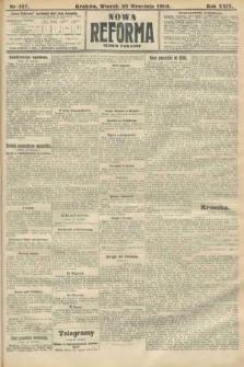 Nowa Reforma (numer poranny). 1910, nr427