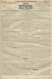 Nowa Reforma (numer poranny). 1910, nr431