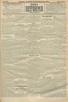 Nowa Reforma (numer poranny). 1910, nr497