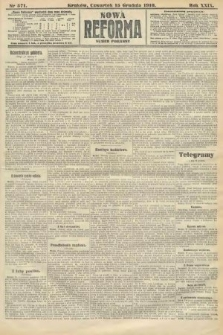 Nowa Reforma (numer poranny). 1910, nr571