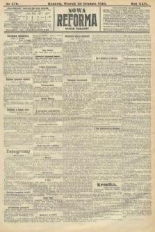 Nowa Reforma (numer poranny). 1910, nr579