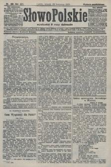 Słowo Polskie (wydanie popołudniowe). 1908, nr198