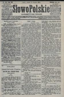 Słowo Polskie (wydanie poranne). 1908, nr372