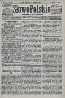 Słowo Polskie (wydanie poranne). 1908, nr452