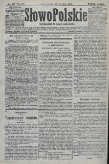 Słowo Polskie (wydanie poranne). 1908, nr454